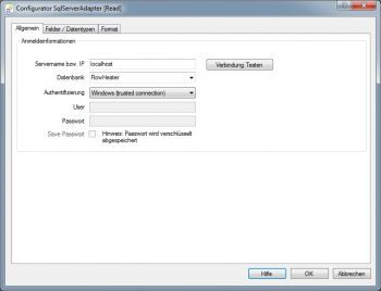 SQL Server Export Datenquelle konfigurieren