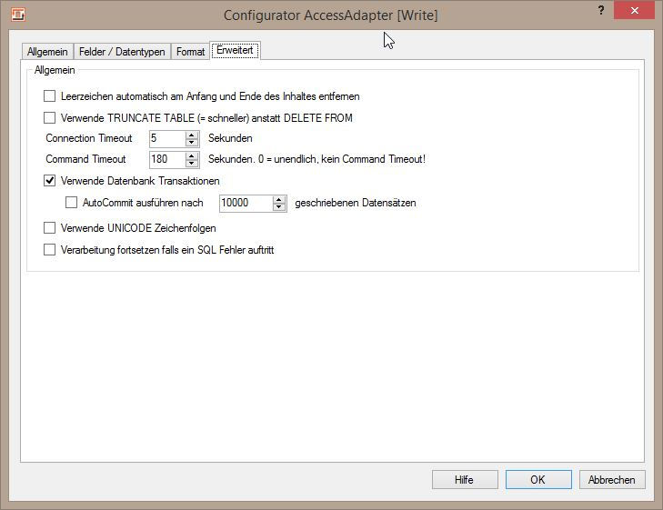 Import, Export und Update von MS Access Datenbanken