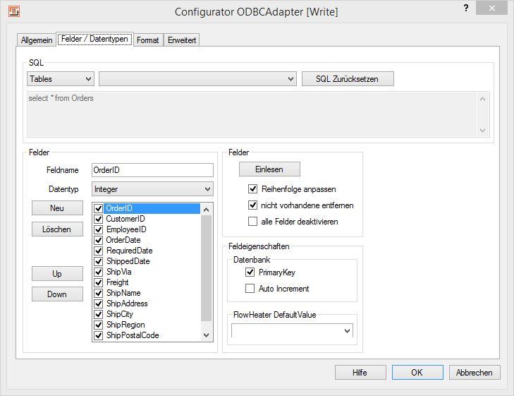 Import Export Und Update Von Odbc Datenquellen