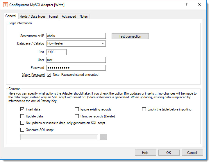 Import, Export and Update MySQL Database Tables