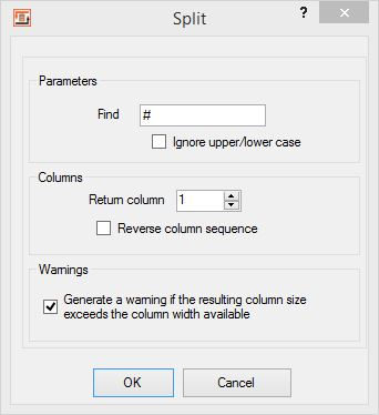 Split Heater, configuration dialog