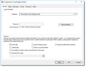 Access Adapter, database select