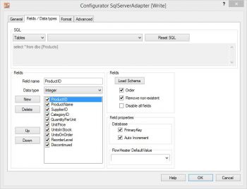 Import, Export and Update MS SQL Server Tables