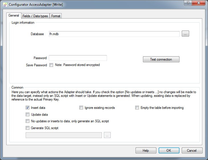 Generate MS Access test data