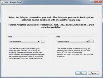 choose MS Access Adapter