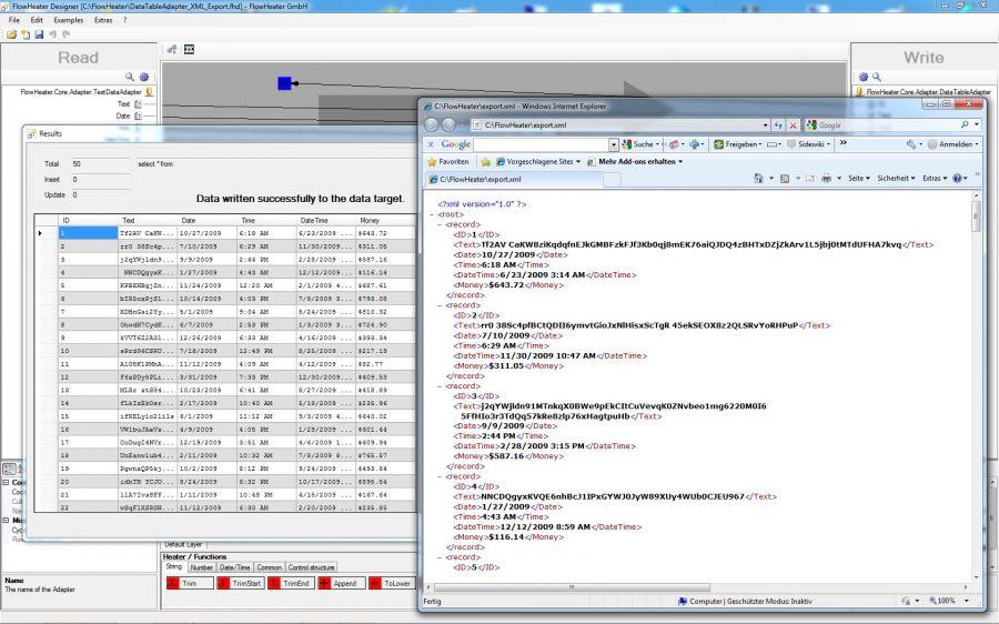 Simple DataTable XML export