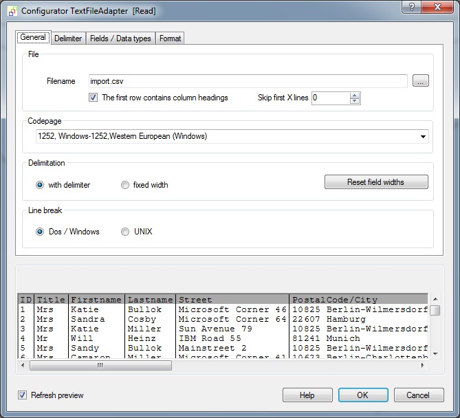 CSV text file import into MySQL database
