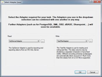 choose flat file export adapter