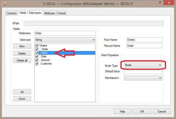 Customize XML field names and attributes